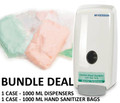 Bundle: McKesson Pump Dispenser 1000 mL & Hand Sanitizer Bag
