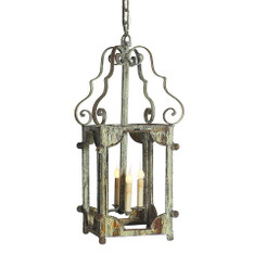 French Iron Amelia Lantern 4 Light