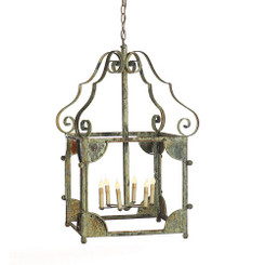 French Iron Amelia Lantern 6 Light