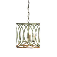 French Iron Charles Pendant 4 Light