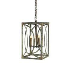 French Iron Charles Lantern 4 Light