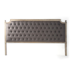 Zentique Louis Tufted King Headboard in Aubergine