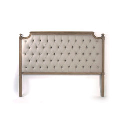 Zentique Louis Tufted Queen Headboard in Natural Linen