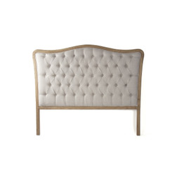 Zentique Maison Tufted Queen Headboard in Natural Linen