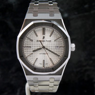 Audemars Piguet WHITE 41mm ROYAL OAK AUTOMATIC 15400 I-ser 15400ST.OO.1220ST.02