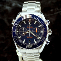 OMEGA SEAMASTER Planet Ocean Chrono BLUE 46MM Co-Axial 215.30.46.51.03.001