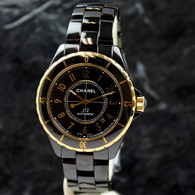 Chanel J12 Automatic YELLOW GOLD / BLACK CERAMIC 42mm  H2129