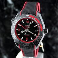 OMEGA Seamaster RED DEEP BLACK PLANET OCEAN GMT Ceramic 215.92.46.22.01.003