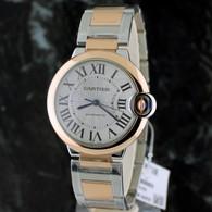 Cartier 36mm BALLON BLEU 18k Pink Gold & Stainless Steel AUTOMATIC W2BB0003