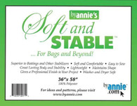 ByAnnie's Soft and Stable 100% Polyester Stabilizer 36in x 58in Black