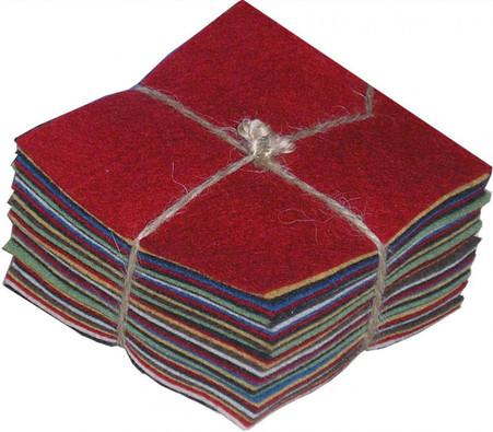 100% Wool Felt Homespun Charm Pack