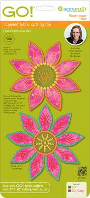 AccuQuilt GO! Die - Flower Power by Sarah Vedeler