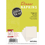 Stitch 'Em Up Napkins 4/pkg Natural / Cream