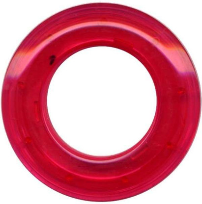 Grommets 25mm Round 8/pkg Clear Fuschia