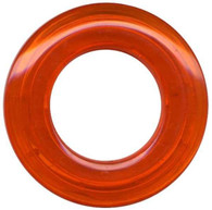Grommets 25mm Round 8/pkg Clear Orange