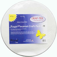 Placemat Craft Pack 16in Round 4/pkg Circle