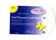 Placemat Craft Pack 16-1/2in x 13-1/4in 4/pkg Oval