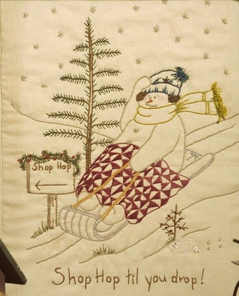 Quilting Snowladies - Shop Hop Til You Drop