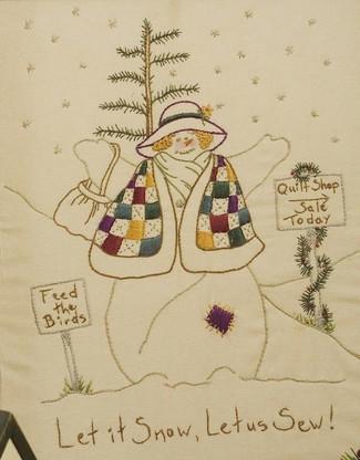 Quilting Snowladies - Let It Snow, Let Us Sew