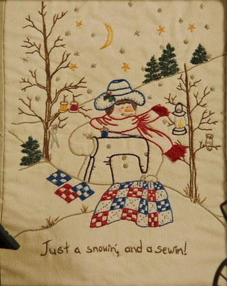 Quilting Snowladies - Just A Snowin, And A Sewin