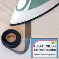 Heat Press Batting Together 3/4in x 10yd Black