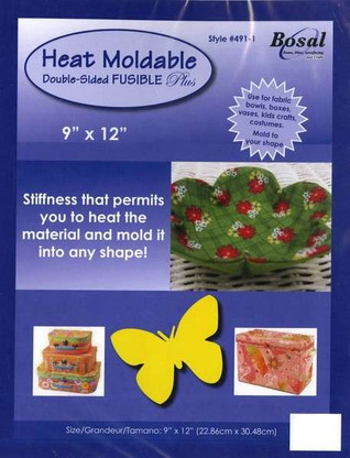 Bosal Heat Moldable Double Sided Fusible Plus Stabilizer 9in x 12in