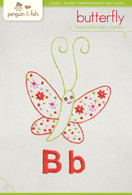 B Butterfly Hand Embroidery