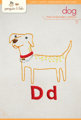 D Dog Hand Embroidery