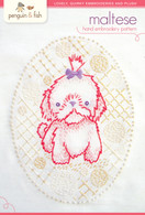 Maltese Pup Hand Embroidery