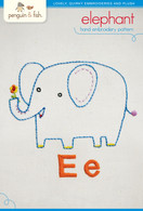 E Elephant Hand Embroidery
