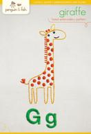 G Giraffe Hand Embroidery