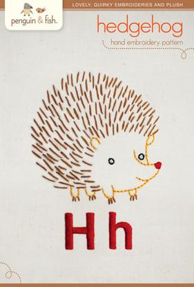 H Hedgehog Hand Embroidery
