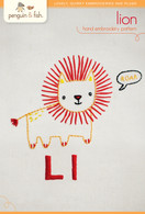 L Lion Hand Embroidery