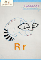 R Raccoon Hand Embroidery