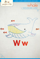 W Whale Hand Embroidery