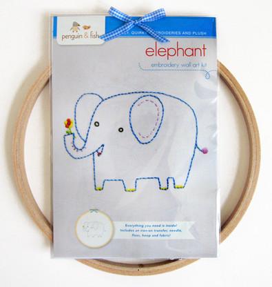 Elephant Hand Embroidery Kit