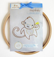 Monkey Hand Embroidery Kit