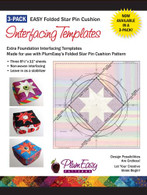 Pin Cushion Interfacing Templates 3/pkg