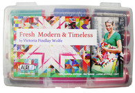 Aurifil Cotton 50 wt 12 Large Spools Victoria Findlay Woolfe Fresh Modern & Timeless Thread Collection