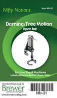 Darning / Free Motion Open Toe Foot