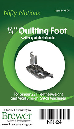 Quilting Foot 1/4in with Guide Blade Singer 221