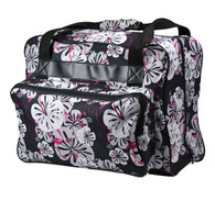 Sewing Machine Tote Black Foral
