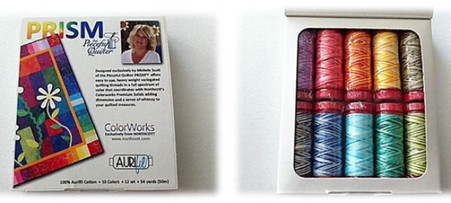 Aurifil Cotton 12 wt 10 Small Spools Michele Scot Prism Thread Collection