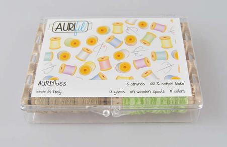 Aurifil Aurifloss 8 Small Spools Beta Kit Sample Thread Pack