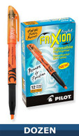 Frixion Erasable Highlighter 12/pkg Orange