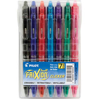 Frixion Clicker Gel Fine 7/pkg Assorted