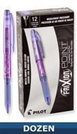 Frixion XF Erasable Gel Pen 12/pkg Purple .05mm