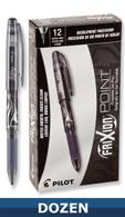 Frixion XF Erasable Gel Pen 12/pkg Black .05mm