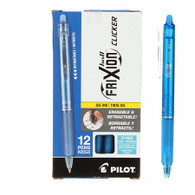 Frixion Clicker Gel Pen Fine Point 12/pkg Turquoise .07mm