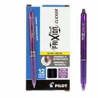 Frixion Clicker Gel Pen Fine Point 12/pkg Purple .07mm